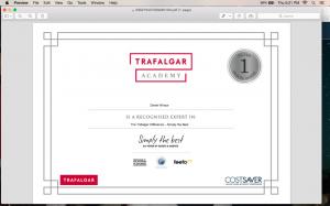 Trafalgar Certificate