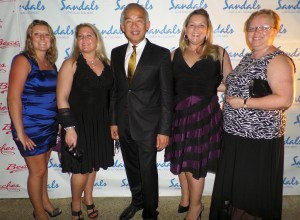 TPI attendees at the Sandals STAR Awards (l-r): Jen Jackson, Thorold, Ontario; Donna Marshall, Barrie, Ontario; Morris Chia, TPI President & CEO, Winnipeg, Manitoba; Susan Vincent, Saskatoon, Saskatchewan; Lois Barbour, St. John's, Newfoundland.